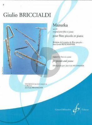Briccialdi Mazurka Op.88 (orig. Flute-Piano) (Beaumadier) (interm. grade 6)