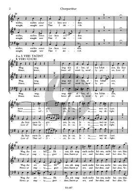 Buxtehude Jesu meine Freude (SBsolo-SSB- 2 Violins-Bassoon- Bc Grusnick) (Chorpartitur)