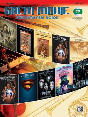 Great Movie Instrumental Solos for Clarinet (Bk-Cd) (level 2 - 3)
