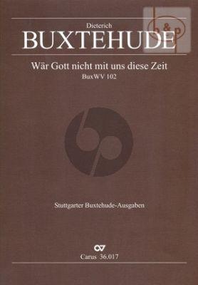 War Gott nicht mit uns diese Zeit (BWV 102) (SATB- 2 Vi.-Bc)