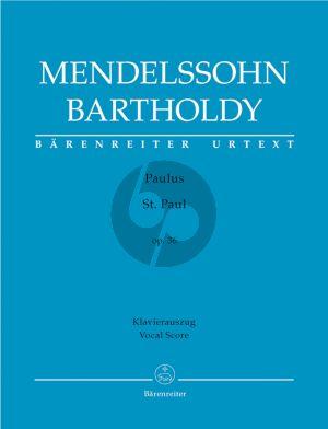 Mendelssohn Paulus Op.36 Soli-Choir-Orch. Vocal Score