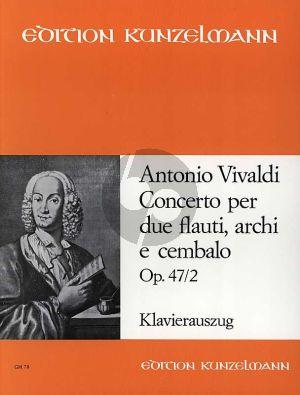 Vivaldi Konzert C-dur Opus 47 No. 2 2 Flöten-Klavier (herausgegeben von Pal Gombas)