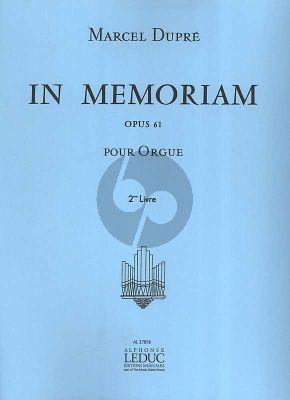 Dupre In Memoriam Opus 61 Vol. 2 Orgue