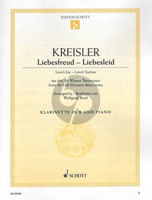 Kreisler Liebesfreud - Liebesleid Clarinet in Bb and Piano (arr. Wolfgang Birtel) (Grade 2 - 3)