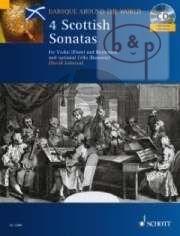 4 Scottish Sonatas (Violin[Flute)-Bc[opt. Cello/ Bassoon) (Bk-Cd)