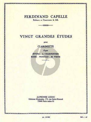 Capelle 20 Grands Etudes pour Clarinette