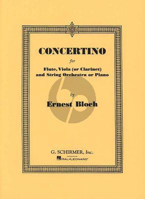 Bloch Concertino for Flute-Viola[Clarinet] and Piano