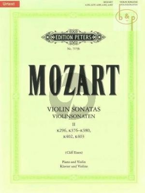 Sonaten Vol.2 KV 296 / 376 - 380 - 402 - 403