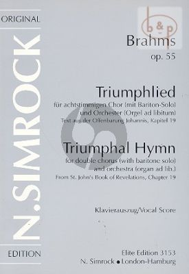 Triumphal Hymn Op.55 (Baritone-SSAATTBB-Orch.)