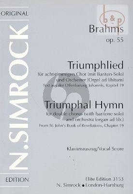 Triumphal Hymn Op.55 (Baritone-SSAATTBB-Orch.)