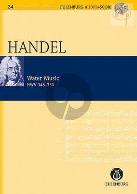 Water Music HWV 348 - 350 Study Score with Audio CD)