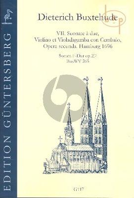 Sonata F-major Op.2 No.7 BuxWV 265 (Violin-Viola da Gamba-Bc)