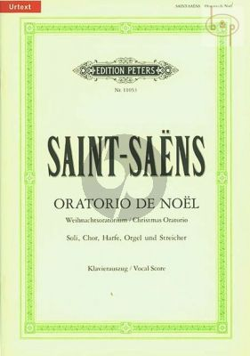 Oratorio de Noel Op.12 (Soli-Choir-Harp-Organ- Strings) (Vocal Score)