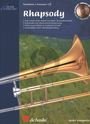 Waignein Rhapsody for Trombone [TC/BC] and Piano (Book with Play-Along/Demo CD) (interm.level)