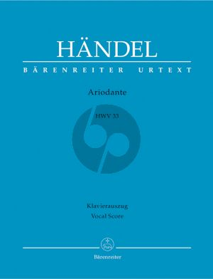 Handel Ariodante HWV 33 Vocal Score (ital./germ.) (edited by Donald Burrows)