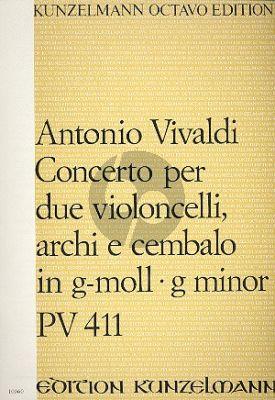 Konzert g-moll RV 531 2 Violoncellos-Streicher-Bc Partitur