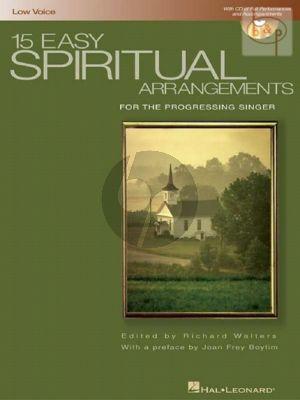 15 Easy Spiritual Arrangements Low Voice-Piano