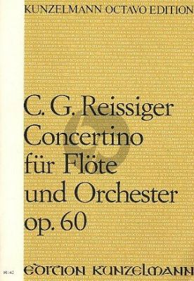 Reissiger Concertino D-Dur Op.60 Flute-Orch. Score