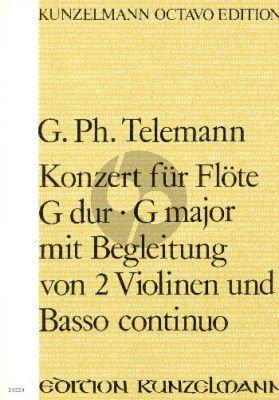 Telemann Konzert G-dur TWV 51:G1 Flöte-Streicher-Bc Partitur (Janos Malina)
