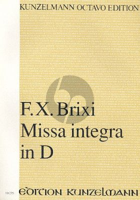 Brixi Missa Integra D-dur 4 Soli-Chor-Orchester Partitur