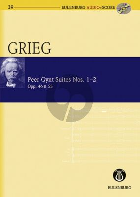 Grieg Peer Gynt Suites No.1-2 Op.46 & 55 Study Score with Audio CD (Richard Clarke)