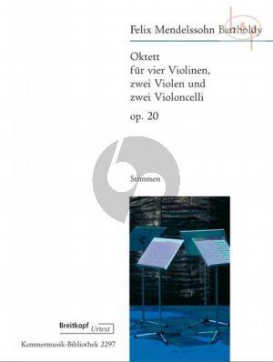 Octet Op.20 (MWV R20) (4 Vi.- 2 Va.- 2 Vc.) (Parts)