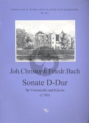 Bach Sonate D-Dur (1789) Violoncello-Klavier