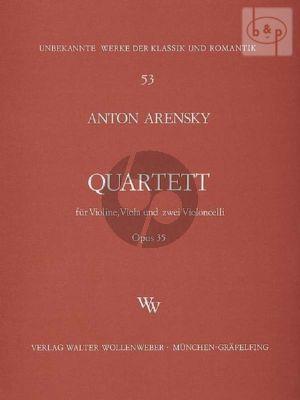 Arensky Quartett No. 2 Op. 35 Violine-Viola-2 Violoncellos (Stimmen)