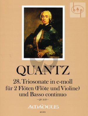 Triosonate e-minor QV2:19 (2 Fl.[Fl.-Vi.]-Bc)