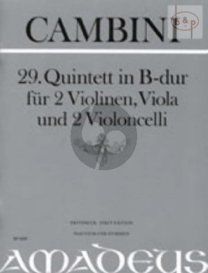 Quintet No.29 B-flat major (Score/Parts)