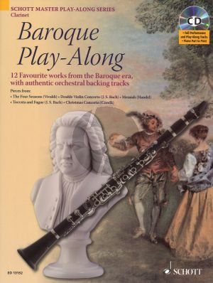 Baroque Play-Along for Clarinet Bk-Cd ((12 Favourite Works from the Baroque Era with Authentic Orchestral Backing Tracks)) (Davies)