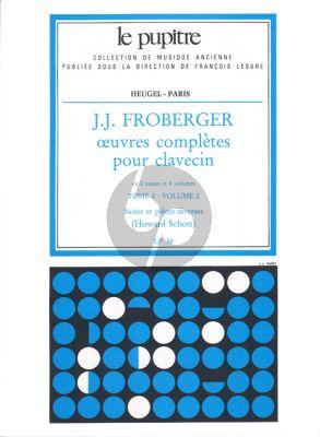 Froberger Oeuvres Complètes de Clavecin Tome 2 Vol.2 (Howard Schott) (Le Pupitre)