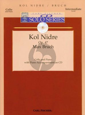 Bruch Kol Nidrei Op.47 for Violoncello with Pianopart on CD Book with Play-Along CD (Intermediate Level)