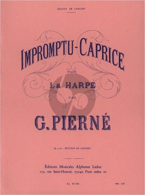 Pierne Impromptu-Caprice Op.9 pour Harpe