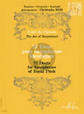 22 Duos Vol.2 (2 Sax.) (equal pitch) (Rameau-Couperin-Scarlatti)