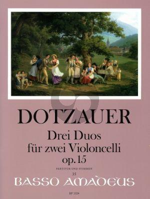 Dotzauer 3 Duos Opus 15 2 Violoncellos (Score/Parts) (edited by Yvonne Morgan)