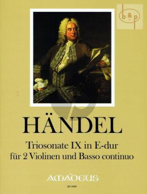 Triosonate No.9 E-major HWV 394