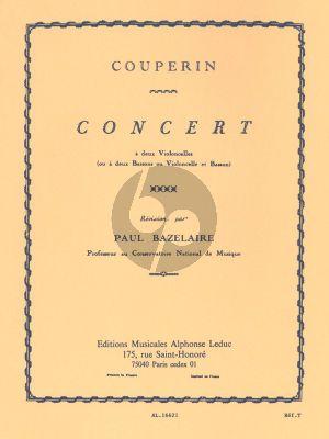 Couperin Concert (Duo G-major) 2 Violoncellos ou 2 Bassons