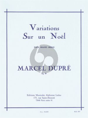 Dopre Variations sur un Noel Op.20 Orgue