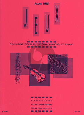 Ibert Jeux (Sonatine) Flute[Violin]-Piano