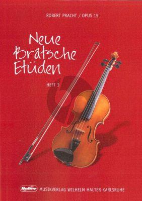 Pracht Neue Bratsche Etuden Op.15 Vol.3 (Etuden in der 1 - 2 - 3.Lage) (Viola)