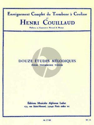 Couillaud 12 Etudes Melodiques de Busser Trombone