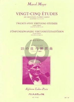 Moyse 25 Etudes de Virtuosite d'apres Czerny pour Flûte
