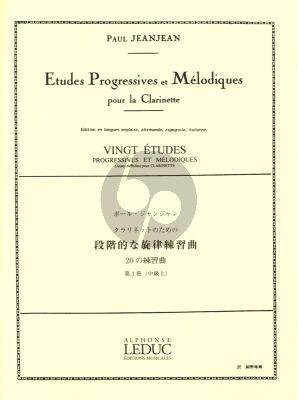 JeanJean 20 Etudes Progressives et Melodiques Vol.3 (assez Difficile)