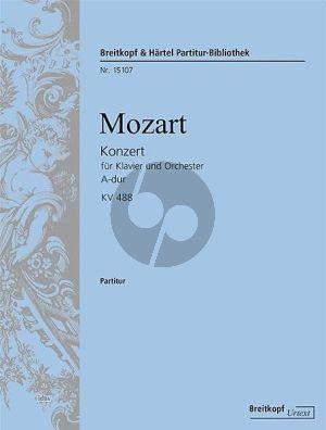Mozart Konzert No.23 A dur KV 488 Klavier-Orchester Partitur (Herausgegeben von Ernst Guenter Heinemann) (Breitkopf Urtextausgabe)