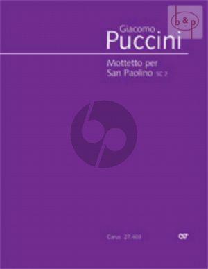 Puccini Mottetto per San Paolino (SC 2) Bariton-SATB-Orchester (Partitur lat.) (edited by D.Schickling)