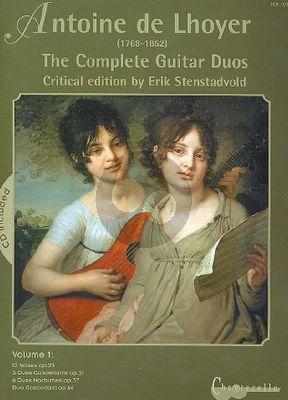 L'Hoyer Complete Guitar Duos Vol. 1 (Bk-Cd) (edited by Erik Stenstadvold)