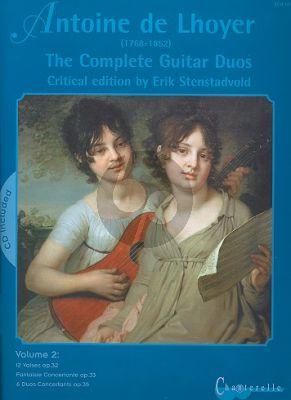 Lhoyer Complete Guitar Duos Vol. 2 (Bk-Cd) (Erik Stenstadvold)