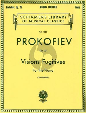 Prokofieff Visions Fugitives Opus 22 Piano (David Goldberger)