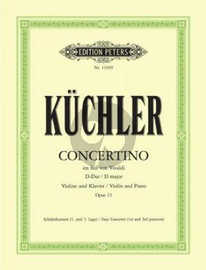 Kuchler Concerto D-major Op.15 (In Style of Vivaldi) (1-3 pos.) (edited by Franziska Matz)